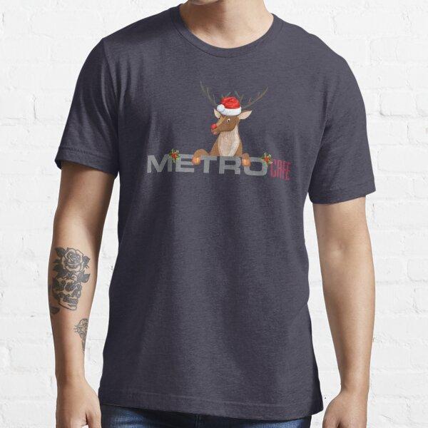 Metro Cafe Christmas Reindeer Santa Hat Essential T-Shirt