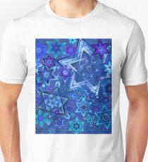 Star of David Hanukkah Night Sky 2 T-Shirt