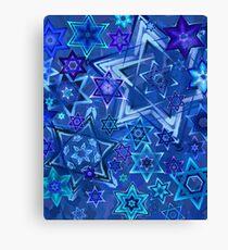 Star of David Hanukkah Night Sky 2 Canvas Print