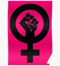 Black Feminist Power Fist Poster