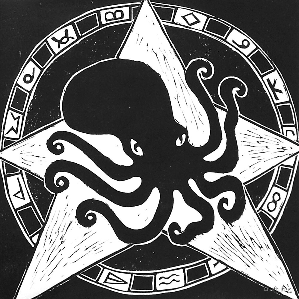 Cephalopod God (Crafty Hag Logo) by craftyhag