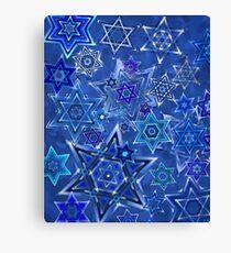 Star of David Hanukkah Night Sky 1 Canvas Print