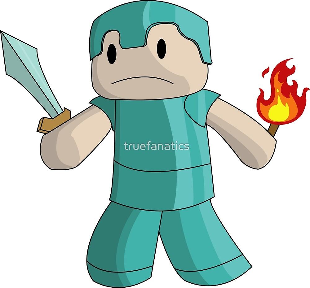 Minecraft Steve Diamond Armor With Diamond Sword And Fire By Truefanatics