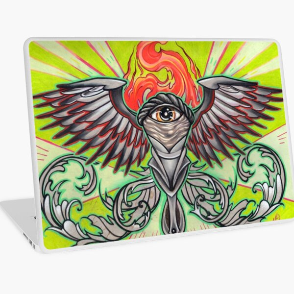 torch with eye and flames Laptop Skin
