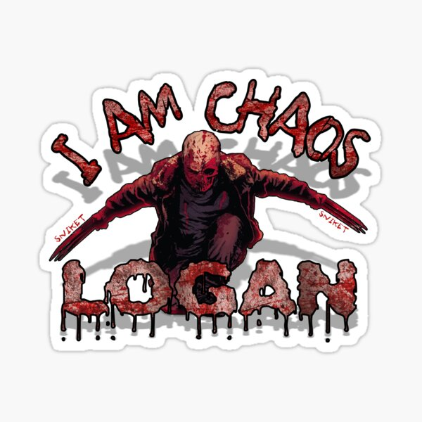 Logan Old MAN I AM Chaos Sticker