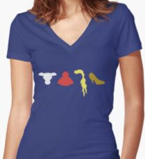 Camiseta entallada de cuello en V En la lista de brujas de Woods