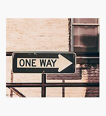 One Way Photographic Print