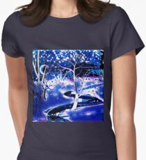 Snowy, Snowy Night Women's Fitted T-Shirt