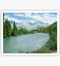 Wheaton River alpine valley Yukon Territory Canada Sticker