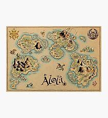 Alola Map Photographic Print