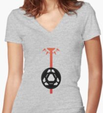 Laser Core Women's Fitted V-Neck T-Shirt