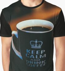 Keep Calm and Drink Coffee Graphic T-Shirt