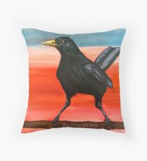 Blackbird Throw Pillow