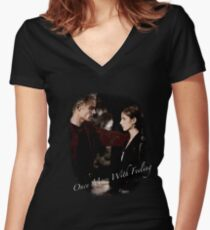 Spike And Buffy - Once More With Feeling Women's Fitted V-Neck T-Shirt