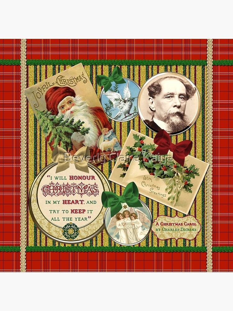 Christmas Carol Charles Dickens Traditional Plaid Classic Quote by beverlyclaire
