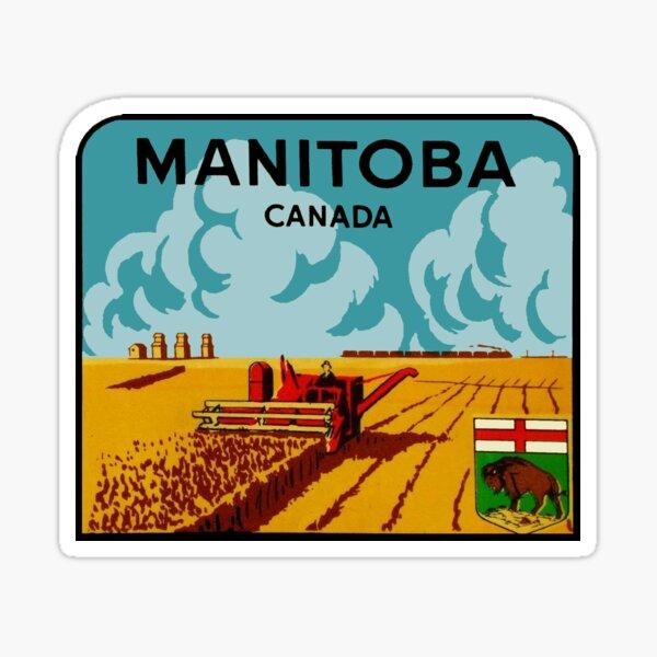 Manitoba Canada Vintage Travel Decal Sticker