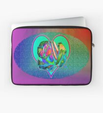 Glam rose with heart Laptop Sleeve