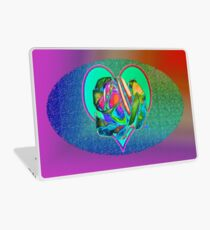 Glam rose with heart Laptop Skin