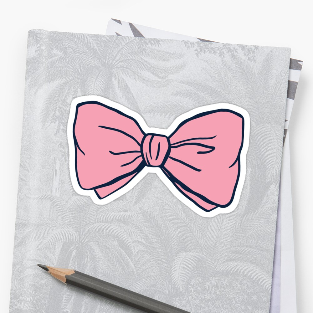 Original Preppy Bow Sticker Front
