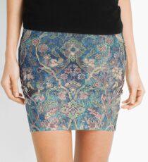 Vintage Tea Stain Floral Pattern Mini Skirt