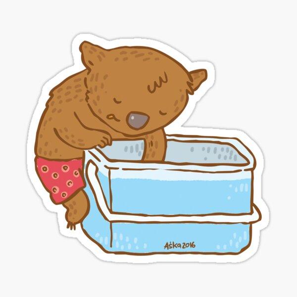 Aussie Wombat Sticker