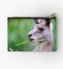 """ Portrait of Kangaroo "" Studio Pouch"