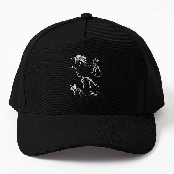 Dinosaur Fossils in Black Baseball Cap