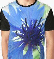 Bachelors Button Dark Center Graphic T-Shirt