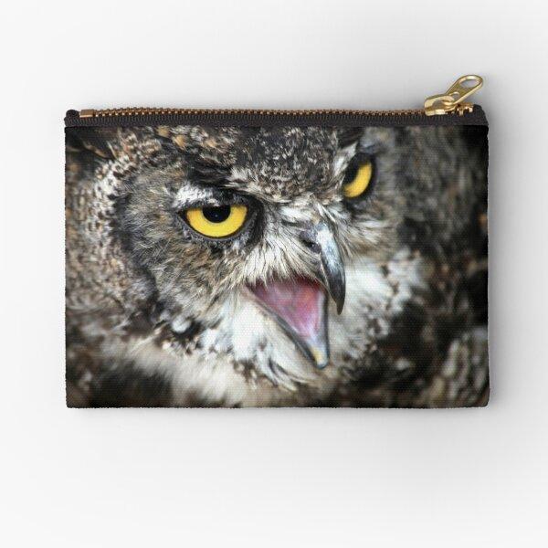 Great Horned Owl Zipper Pouch