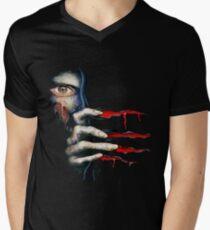 Capcom Resident Evil 2 Classic RARE Design. 100% Redrawn In Adobe Ilustrator Vector Format. Men's V-Neck T-Shirt