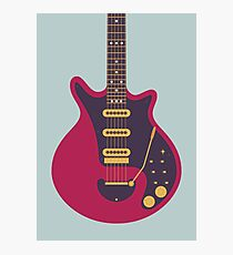 Brian May Red Special Guitar (Grey) Photographic Print