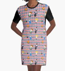 Howl's Moving Castle Pattern Graphic T-Shirt Dress