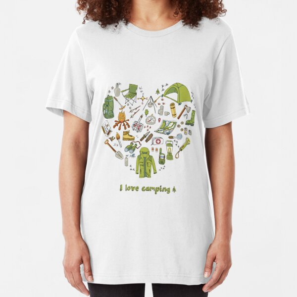I love camping! Slim Fit T-Shirt