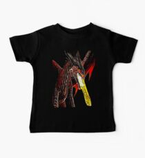 Toothless Fire Breathing Night Fury Fractal Dragon Design Baby Tee