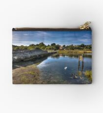 Causeway On The River Yar Studio Pouch