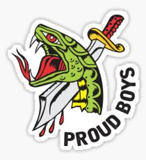 Proud Boys snake and Dagger Sticker
