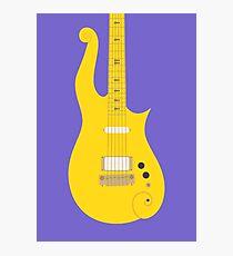 Prince Cloud Guitar (Yellow Purple) Photographic Print