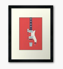 Jack White JB Hutto Montgomery Ward Airline Guitar (Red) Framed Print