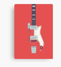 Jack White JB Hutto Montgomery Ward Airline Guitar (Red) Canvas Print