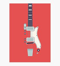 Jack White JB Hutto Montgomery Ward Airline Guitar (Red) Photographic Print