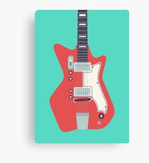 Jack White JB Hutto Montgomery Ward Airline Guitar (Green) Canvas Print