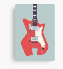 Jack White JB Hutto Montgomery Ward Airline Guitar (Grey) Canvas Print