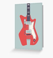 Jack White JB Hutto Montgomery Ward Airline Guitar (Grey) Greeting Card