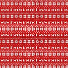 Otterhound Silhouettes Christmas Sweater Pattern by Jenn Inashvili