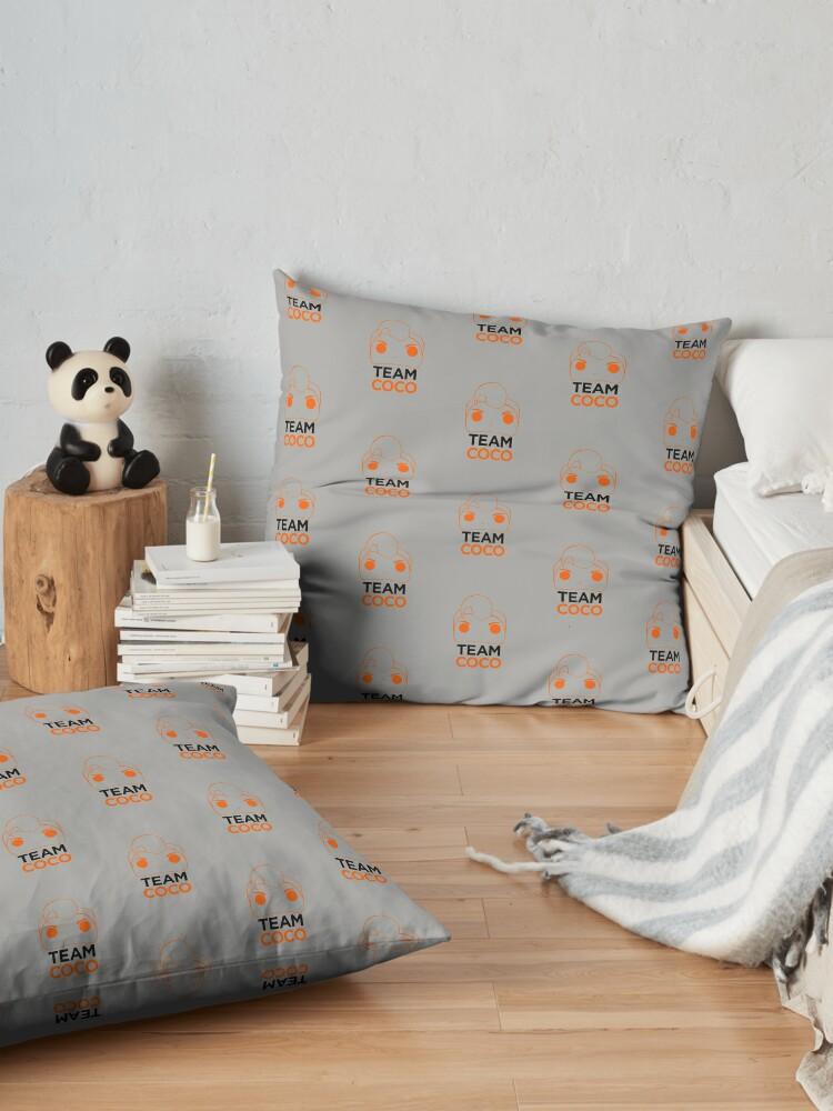 Alternate view of Team Coco cartoon lineart Floor Pillow