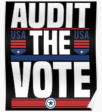 Audit The Vote - Trump Is Not My President  Poster
