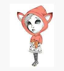 Fox Girl Photographic Print