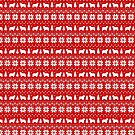 Polish Lowland Sheepdog Silhouettes Christmas Sweater Pattern by Jenn Inashvili
