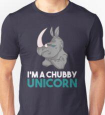 I'm A Chubby Unicorn - Grumpy Rhino Rhinoceros  Unisex T-Shirt