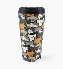 Cat Crowd Travel Mug